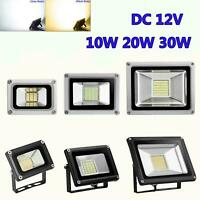 12V LED Flood Light 10W 20W 30W Security Outside Wall Light Garden Outdoor Lamp