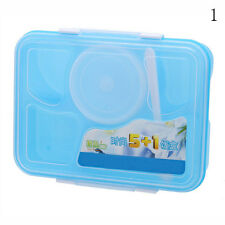 Microwave Bento Lunch Box + Spoon Utensils Picnic Food Container Storage.Box*