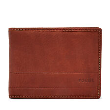 FOSSIL Tri-fold Wallet LUFKIN Int Traveler Brown Leather Coin Wallets  RRP £55