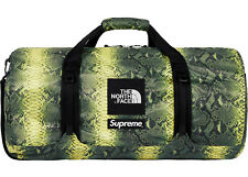 New SUPREME North Face Flyweight Green Snakeskin Duffel Bag Packable ..