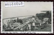 Thonon-les-Bains ( Haute-Savoie )  le port et le lac . photo ancienne . 1948