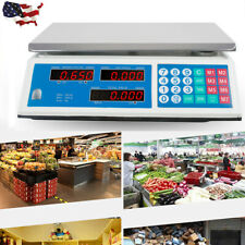66Lb Digital Weight Scale Price Computing Food Meat Fruit Produce Deli Market