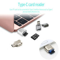 USB 3.1 Type C USB-C to Micro SD TF Card Reader Adapter For Macbook PC Cellphone