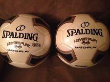 Coaches. 2 MATCH game soccer balls,football,futbol, NEVER  FLAT size 5.GAME BALL