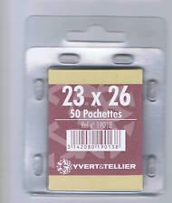 1 Blister 50 Pochettes fond noir double soudure 23x26