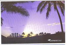 CHILE Isla de Pascua Easter Island Ile de Paque modern pre paid postcard 2013