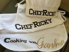 PERSONALIZED Chef Apron & Hat
