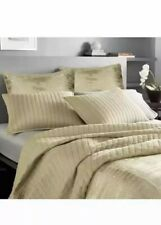 Donna Karan Casual Luxe Channel Stitched F/ Queen Quilt Coverlet Gold.Brand New!