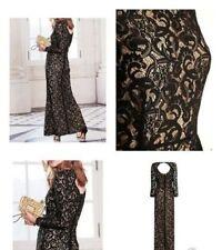 Full Length Lace Long Sleeve Petite Dresses for Women