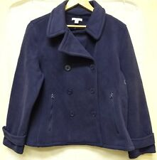 Nautica Women's Double-Breasted Fleece Peacoat Medium Navy 5453KR