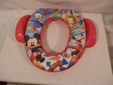"Disney Mickey Mouse & Friends potty seat toilet seat 13"" x 11"" cushioned"