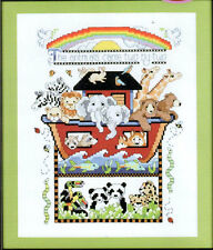 Artiste 14-count Cross Stitch Kit Noah's Ark Sampler Desig. by KOOLER Studio-NEW