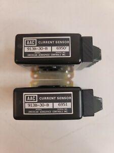 Lot of 2 AAC American Aerospace Controls AC Current Sensor Model 913B-30-B