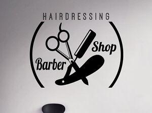Barber Shop Emblem Wall Vinyl Decal Hair Salon Vinyl Sticker Window Stickers 29