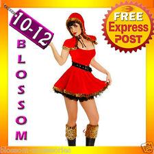8242 Sexy Red Rding Hood Fancy Dress Costume M/L 10 12