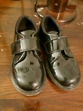 AUTHENTIC Doc Martens BLACK Patent leather velcro SHOE boots toddler girl SZ 10c