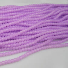 NEW 100pcs 4mm Ball purple Glass crystal Beads for Fit Bracelets Necklaces TTC33