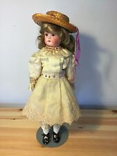 Antique Armand Marseille Floradora doll head, Germany, handmade Clothes