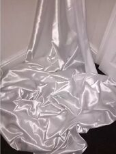 """30 YARDS NEW WHITE SATIN LINING FABRIC...45"""" WIDE Full Roll Of 30 Yards £40"""