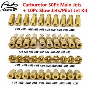 Carburetor 30Pc Main Jets+ 10Pc Slow Jets/Pilot Jet Kit for PWK Keihin OKO