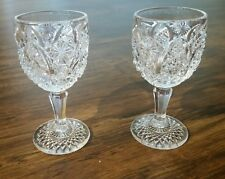 2 Antique Eapg  Glass cordial stemware