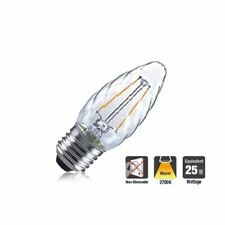 LED Clear Twisted Candle Bulb 2W (25W) Warm-White Screw-Fitting (E27)