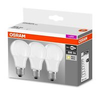 3er-Pack Osram LED BASE A60 E27 8.5W 2700K Warmweiß LED Lampe 60W Glühbirne