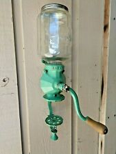 Vintage Arcade Crystal Glass Coffee Grinder No. 4 - Wall Mount - Cast Iron