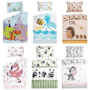 Pati'Chou baby toddler cot crib duvet cover set animal digital print 100% cotton