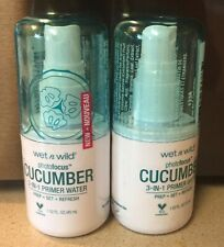 2 - Wet N Wild Photofocus Cucumber 3-in-1 Primer Water! Prep+set+refresh
