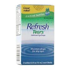 2 X 15 ml REFRESH Tears Lubricant Eye Drops Moisturizing Relief exp. 10/2019+++