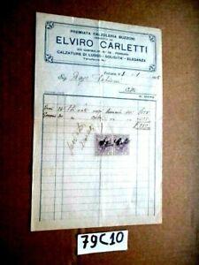 FERRARA  CALZOLERIA ELVIRO CARLETTI VIA GARIBALDI 28      3-1-1925     (79C10)