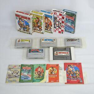 Lot of 5 Super Famicom Games set Nintendo Games 0708 sfb5