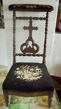 French Prayer Chair, Prie Dieu, Napoleon III Circa 1870,Esotérisme Religion