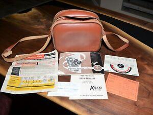 BOLEX PAILLARD Leather Carry Case Bag w Extras B8 Instructions, Kern Depth Kodak