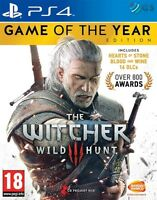 The Witcher 3 Wild Hunt Game Of The Year Edition PS4 * NEW SEALED PAL *