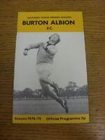 22/03/1975 Burton Albion v Weymouth  (Light Rusty Staples). Footy Progs (aka bob