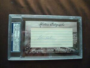 Sammy Hale 1923-29 Athletics 2012 HA 1929 Champions certified autograph d1974