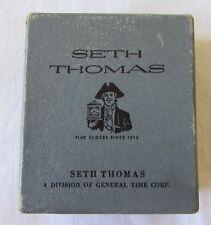 Vintage 1970s Seth Thomas Travel Alarm Clock in Original Box, Runs Great