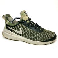 Nike Renew Rival Camo Mens 9.5 Sneakers BQ7160-300 Sequoia / Lt Orewood Brown