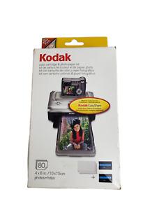 Kodak PH-80 Easy Share Printer Dock Color Cartridge & Photo Paper Refill Kit