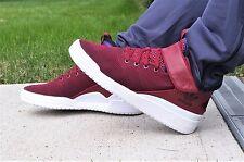 Nuevo En Caja Para Hombre ADIDAS VERITAS X COLLEGIATE Mid Borgoña Rojo Zapatos Atléticos S77632