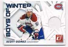 2010-11 DONRUSS BOYS OF WINTER SCOTT GOMEZ JERSEY 1 COLOR MONTREAL CANADIENS #12