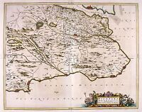 MAP ANTIQUE 1654 SCOTLAND BLAEU EAST FIFE OLD LARGE REPLICA POSTER PRINT PAM0121