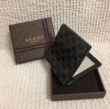 GUCCI Parfums Classic Brown COMPACT MAKE UP / POCKET MIRROR New in Box