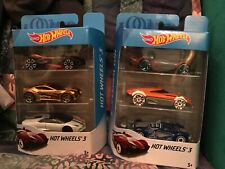 2 Sets of HOT WHEELS 3 Pack TOYS 6 Total Diecast Cars