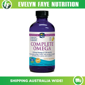 NORDIC NATURALS Complete Omega Liquid - 237ml (8 fl oz) Lemon | 1270mg Omega-3