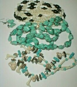 SOUTHWEST JEWELRY NECKLACE EARRINGS LOT all shown SEE ALL WE COMBINE SHIP!