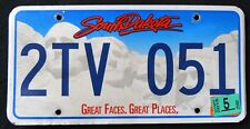 "SOUTH DAKOTA "" GREAT FACES - MOUNT RUSHMORE "" 2015 SD Vintage License Plate"