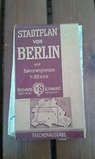 Alter STADTPLAN BERLIN   RICHARD SCHWARZ LANDKARTEN 1947